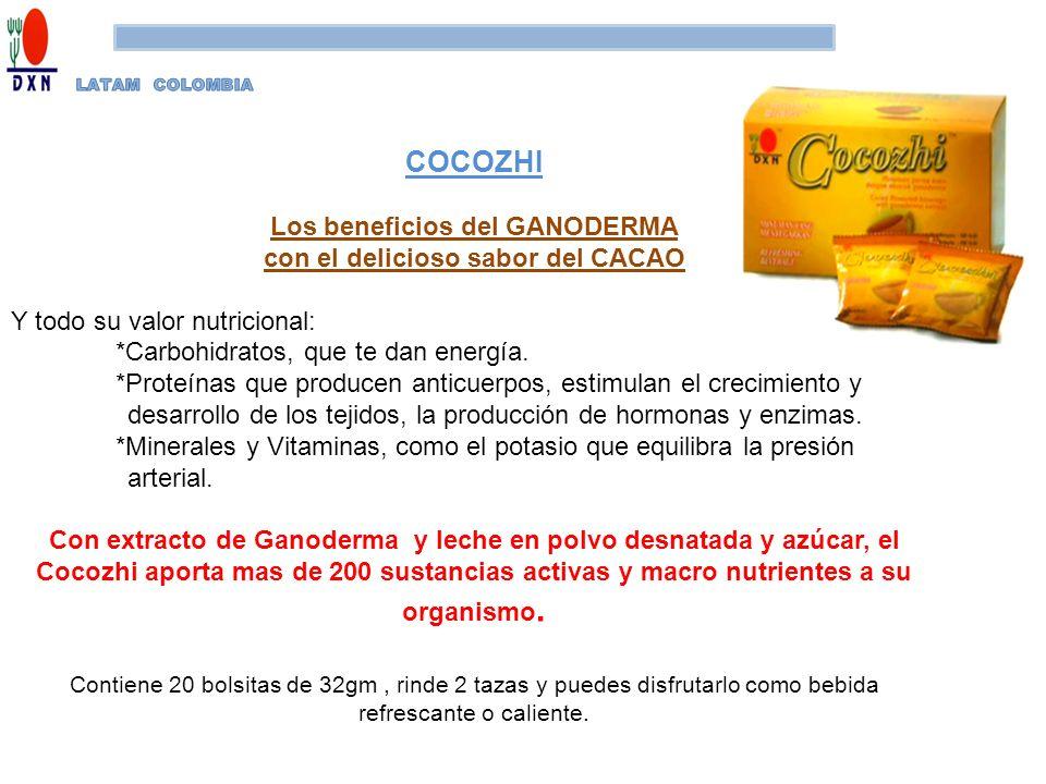 Los beneficios del GANODERMA con el delicioso sabor del CACAO