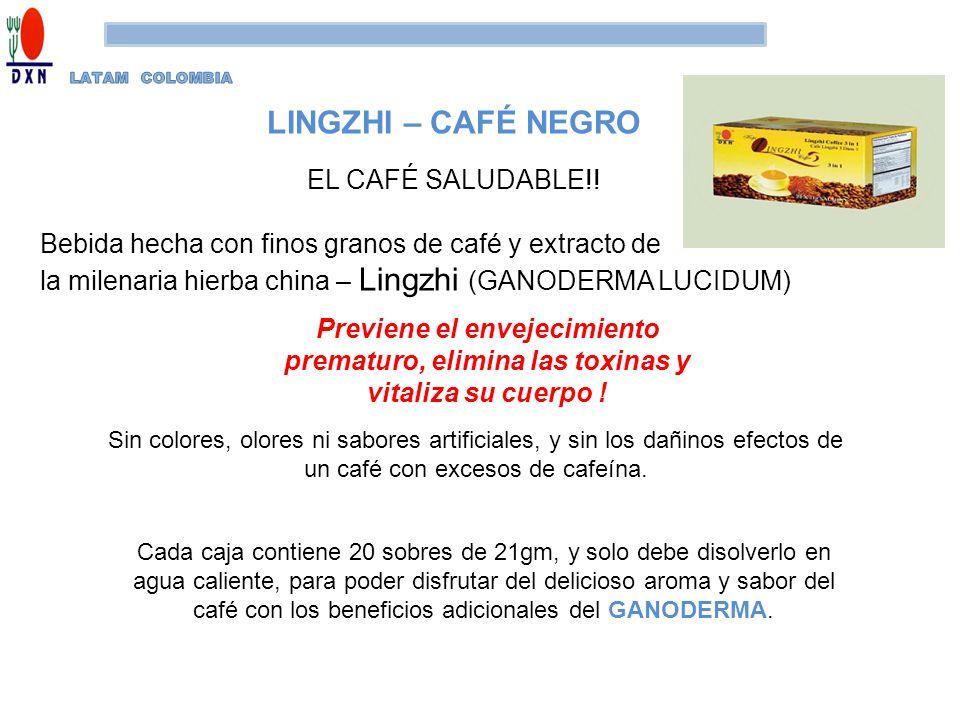 LINGZHI – CAFÉ NEGRO EL CAFÉ SALUDABLE!!