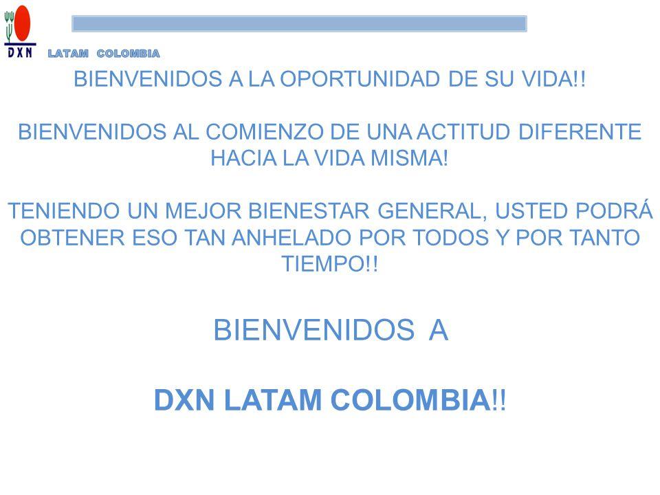 BIENVENIDOS A DXN LATAM COLOMBIA!!