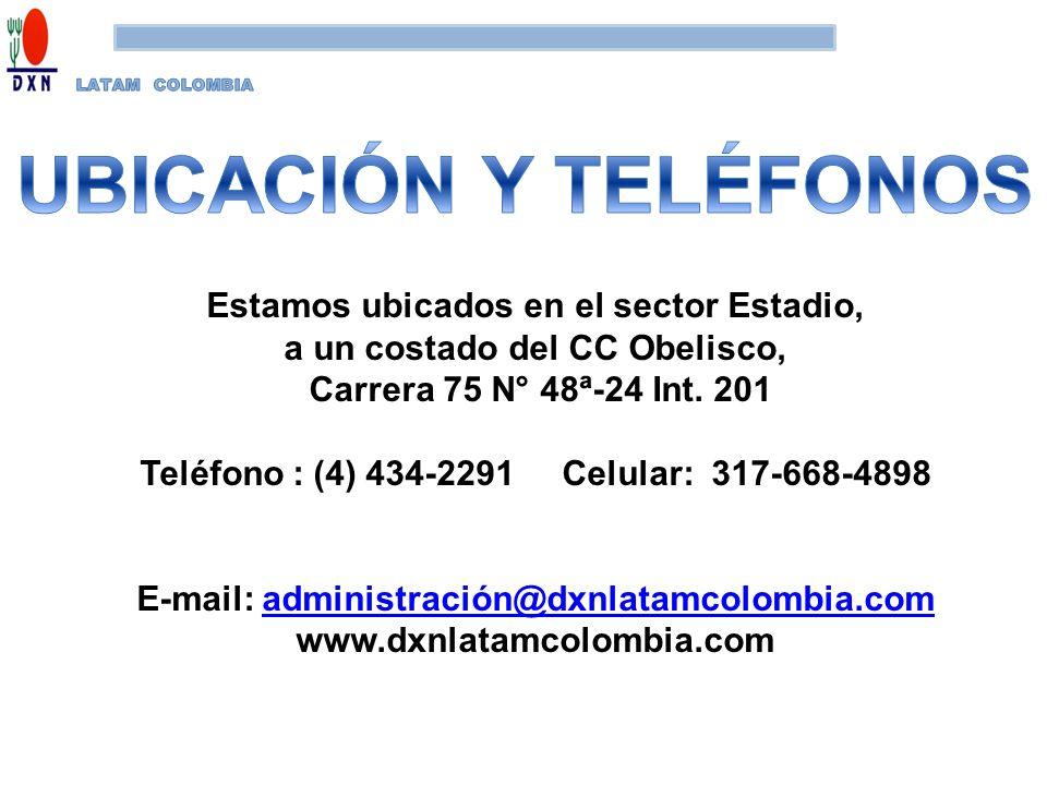 UBICACIÓN Y TELÉFONOS Estamos ubicados en el sector Estadio,