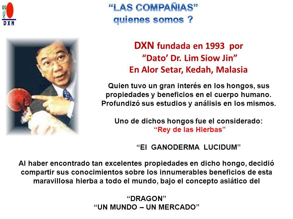 DXN fundada en 1993 por LAS COMPAÑIAS quienes somos