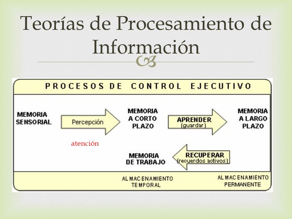 Teorías de Procesamiento de Información