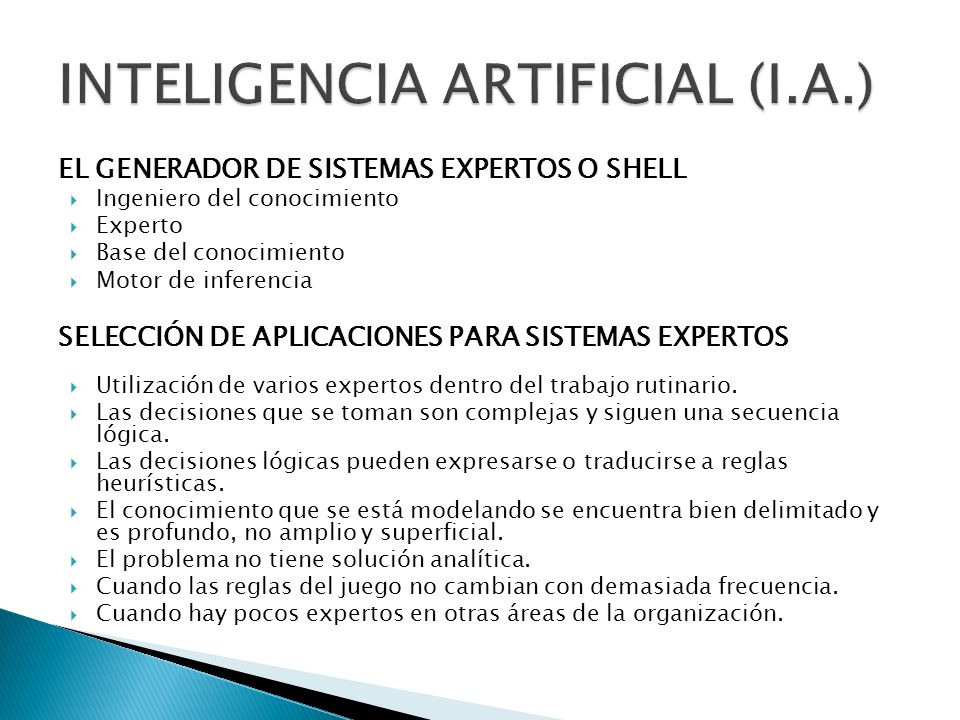 INTELIGENCIA ARTIFICIAL (I.A.)