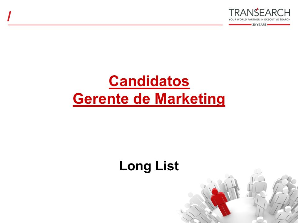 Candidatos Gerente de Marketing