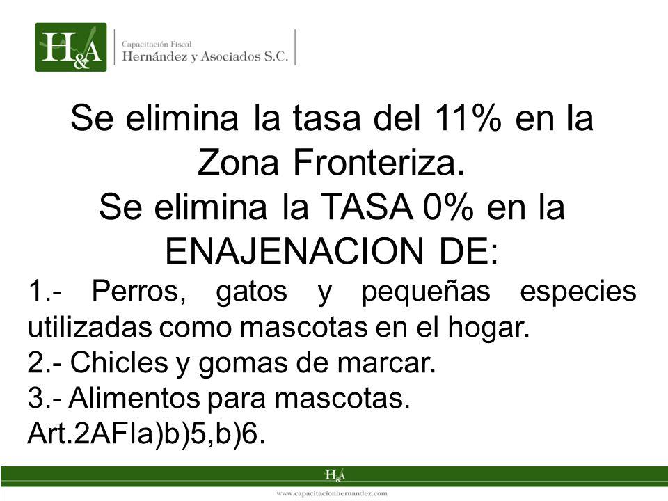 Se elimina la tasa del 11% en la Zona Fronteriza.