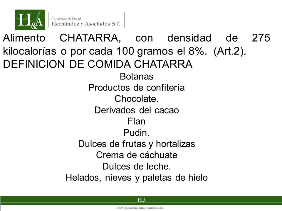 DEFINICION DE COMIDA CHATARRA
