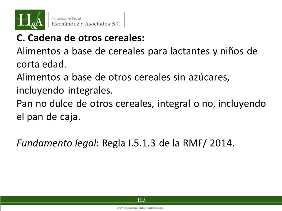 C. Cadena de otros cereales: