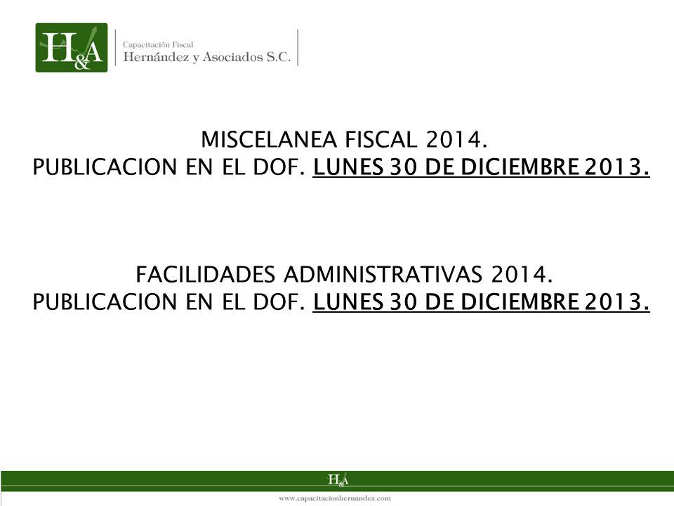 FACILIDADES ADMINISTRATIVAS 2014.