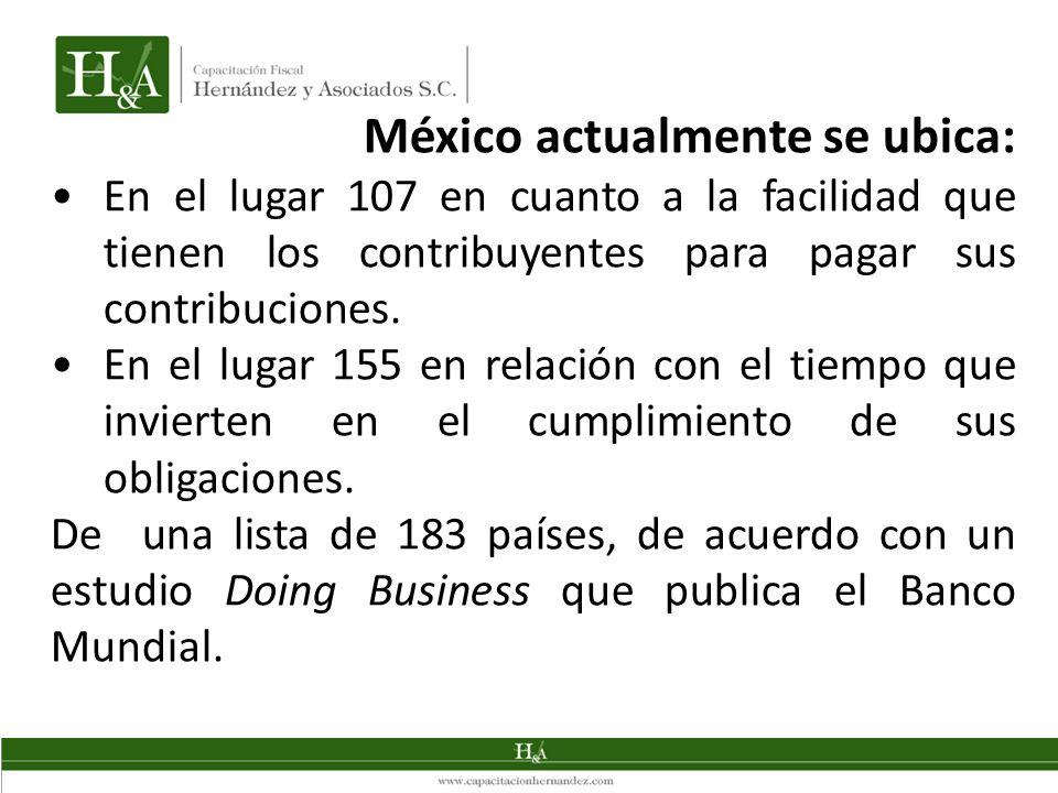 México actualmente se ubica: