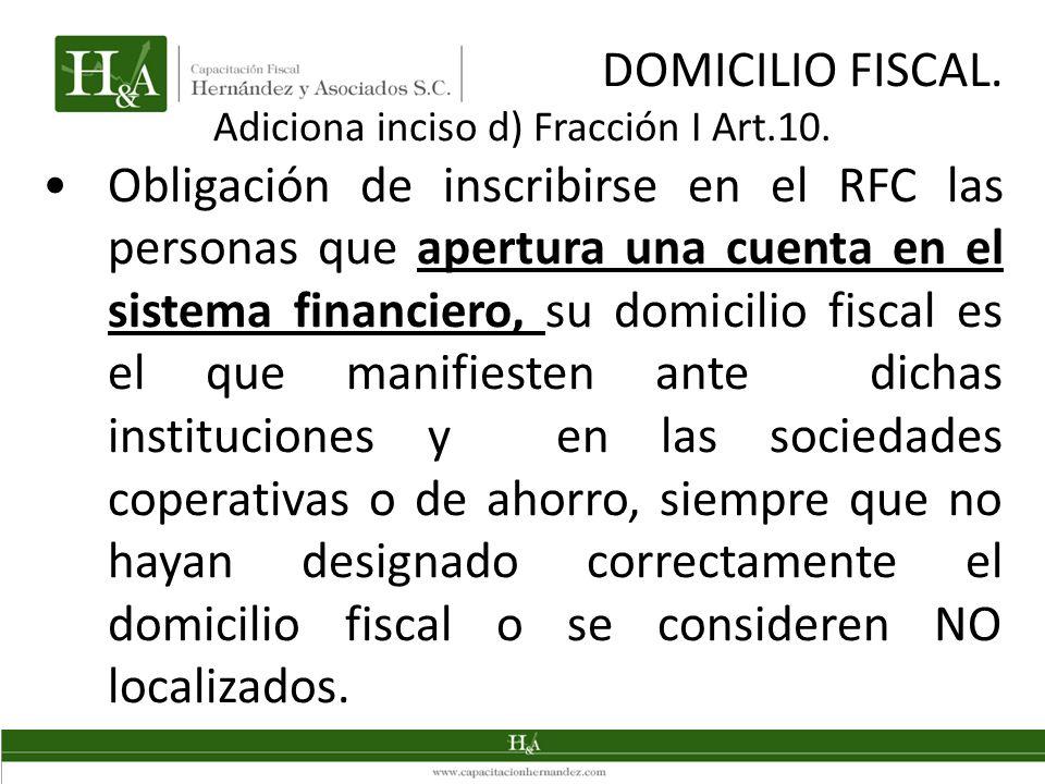 Adiciona inciso d) Fracción I Art.10.