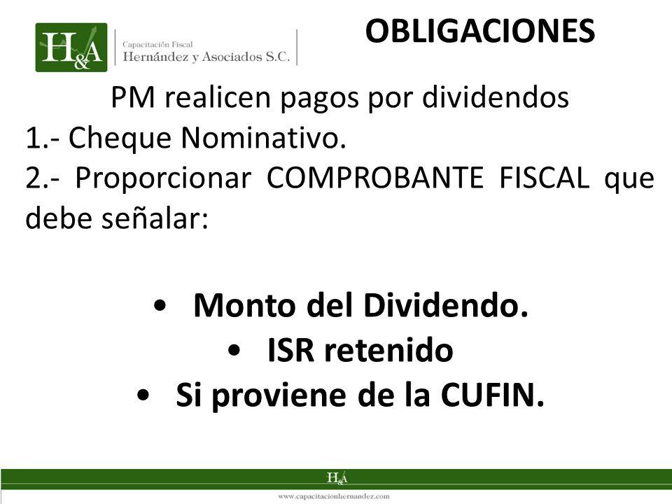 PM realicen pagos por dividendos