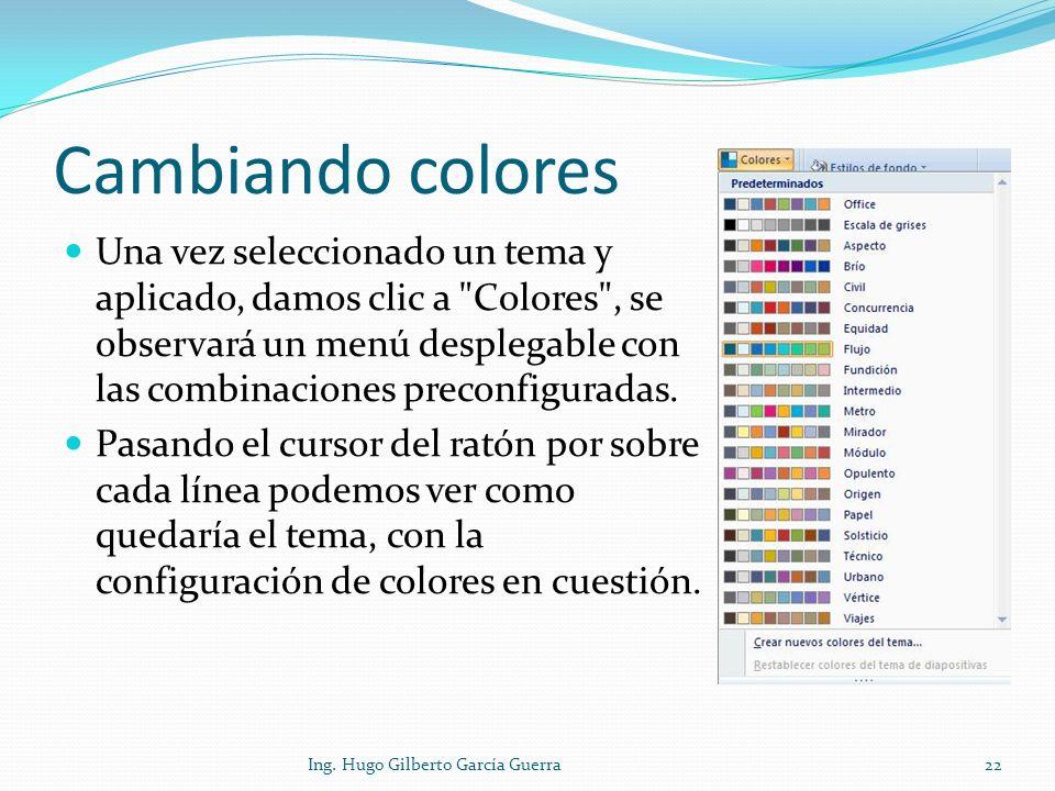 Cambiando colores
