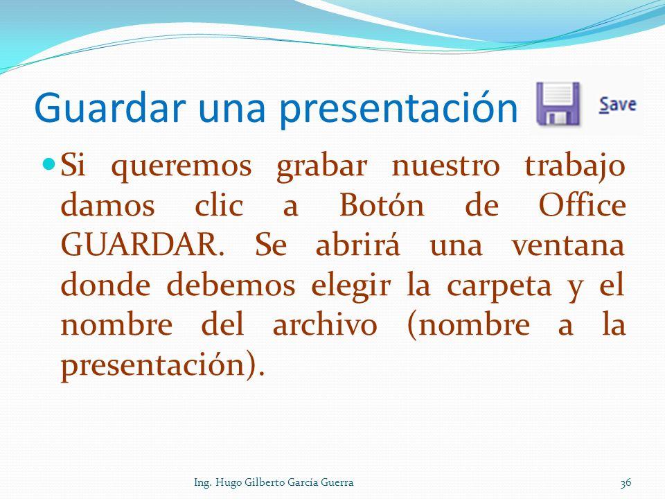 Guardar una presentación