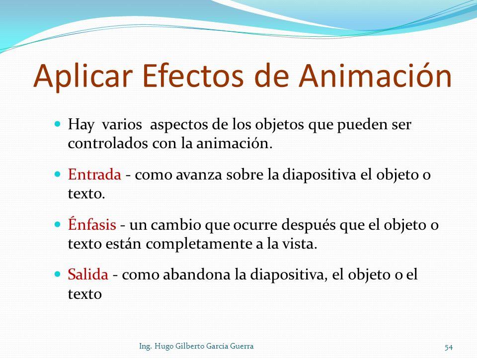 Aplicar Efectos de Animación
