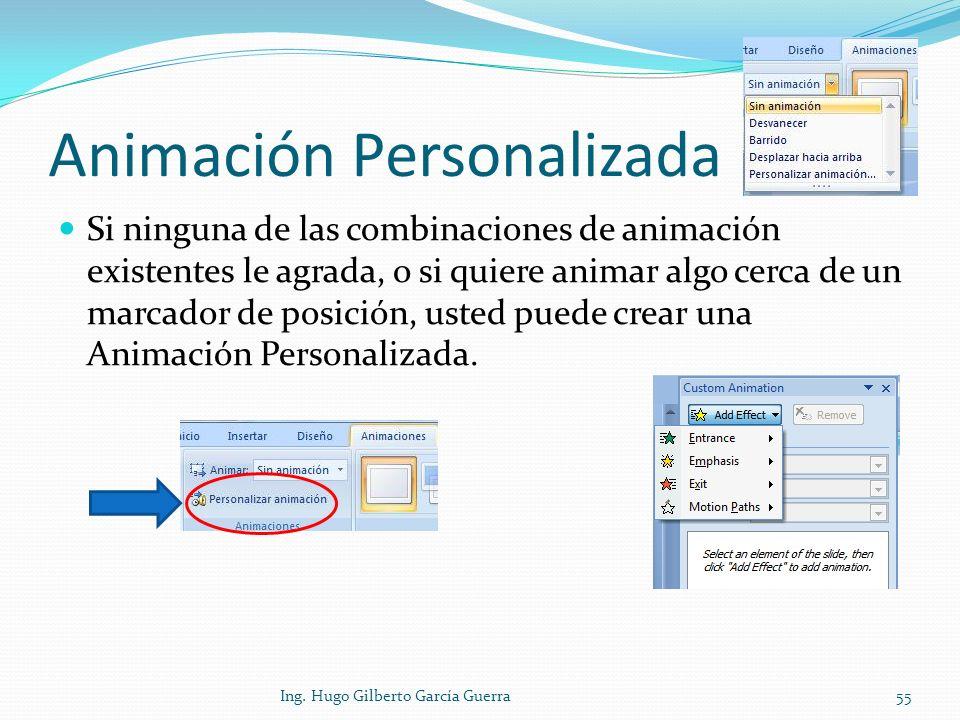 Animación Personalizada
