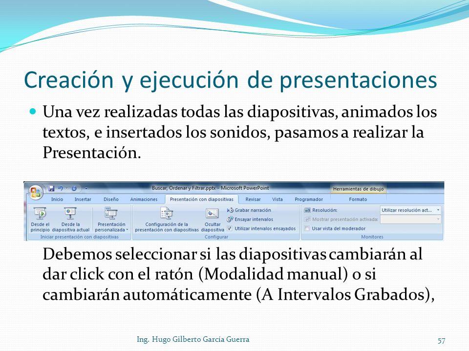 Creación y ejecución de presentaciones