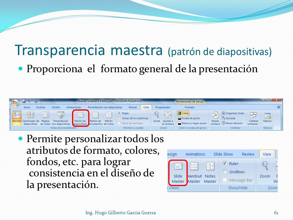 Transparencia maestra (patrón de diapositivas)