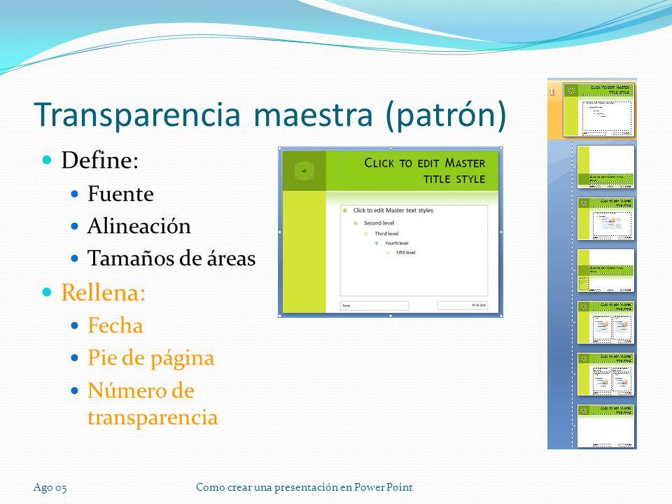 Transparencia maestra (patrón)