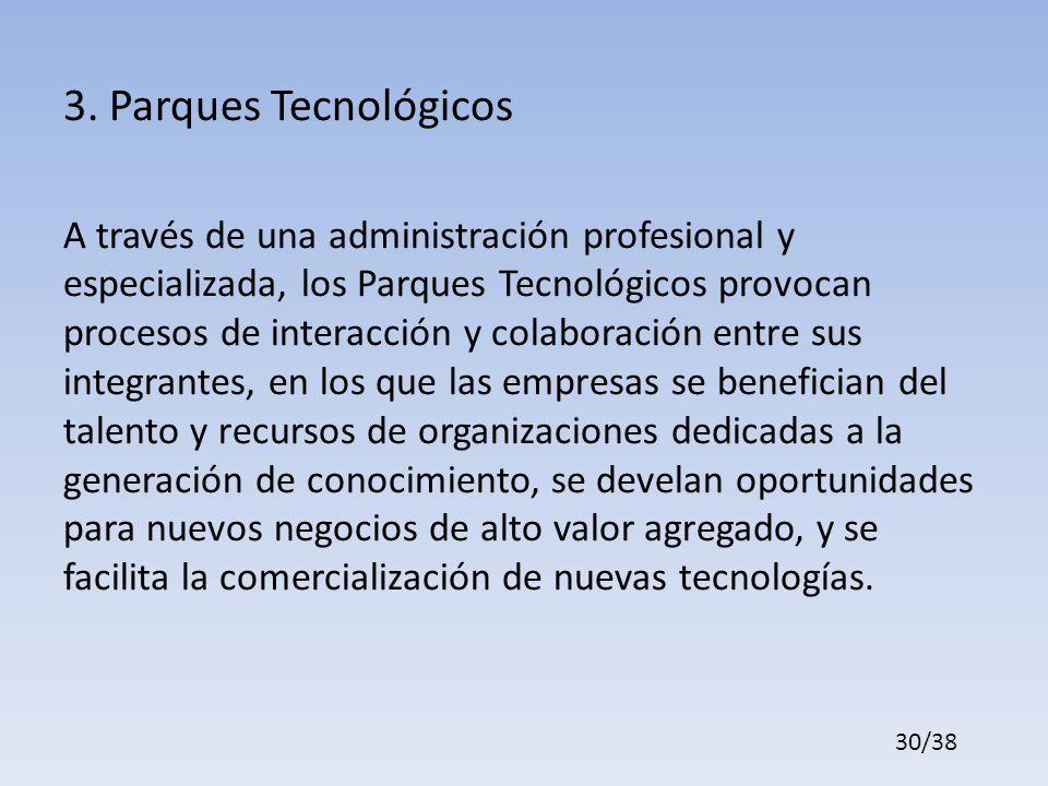 3. Parques Tecnológicos