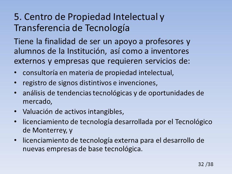 5. Centro de Propiedad Intelectual y Transferencia de Tecnología