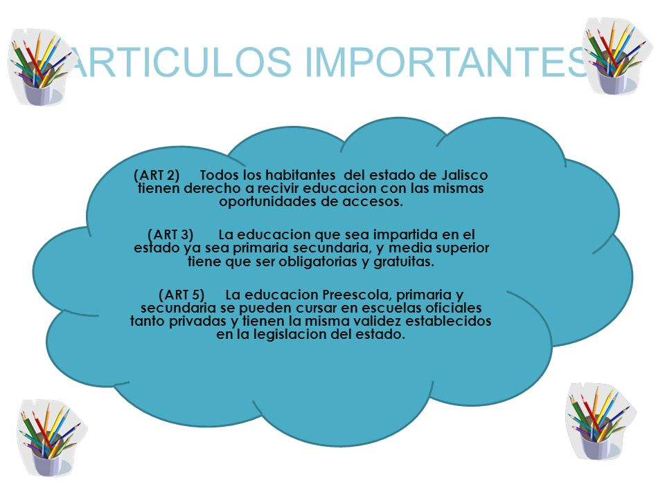 ARTICULOS IMPORTANTES: