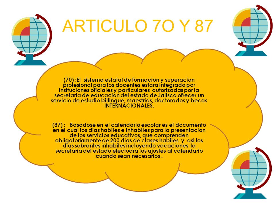 ARTICULO 7O Y 87
