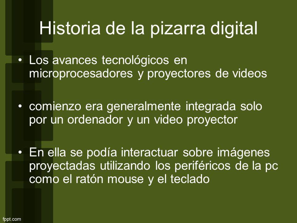 Historia de la pizarra digital