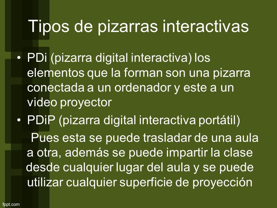 Tipos de pizarras interactivas