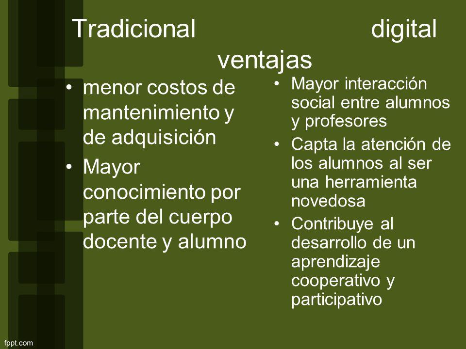 Tradicional digital ventajas