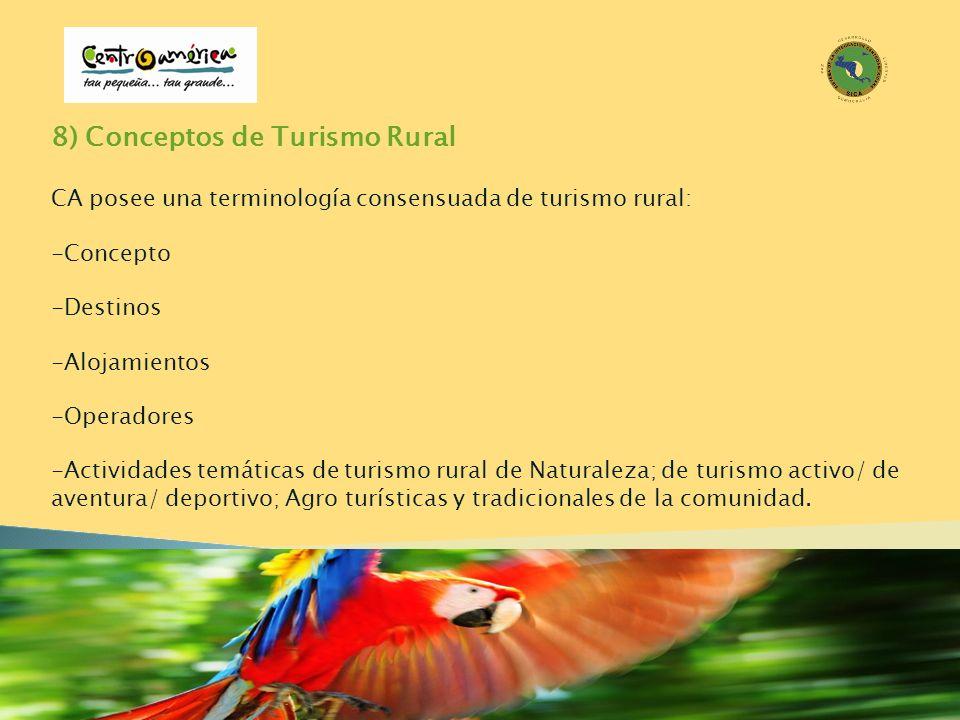 8) Conceptos de Turismo Rural