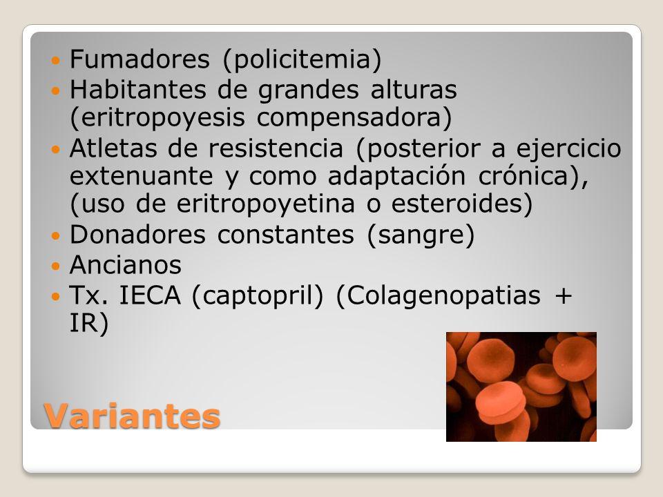 Variantes Fumadores (policitemia)