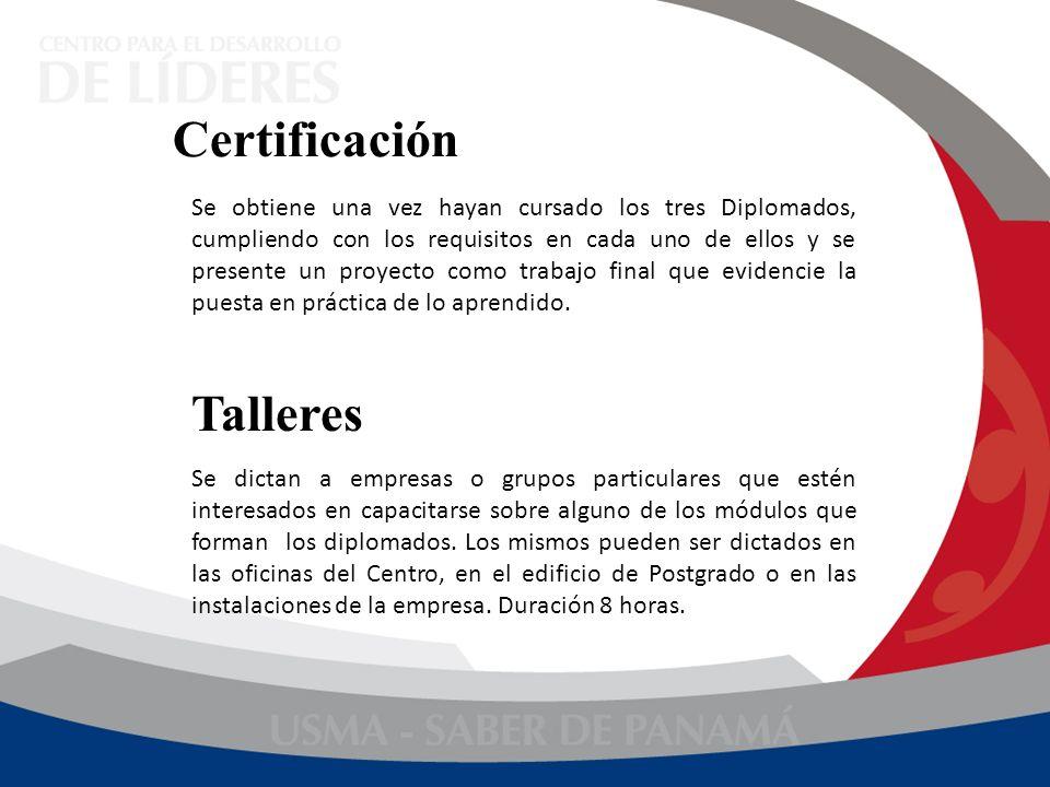 Certificación Talleres