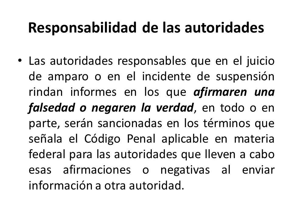 Responsabilidad de las autoridades