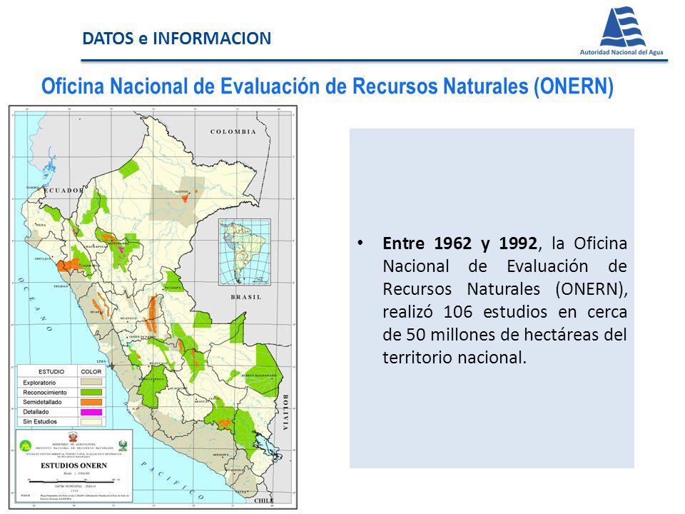 Oficina Nacional de Evaluación de Recursos Naturales (ONERN)