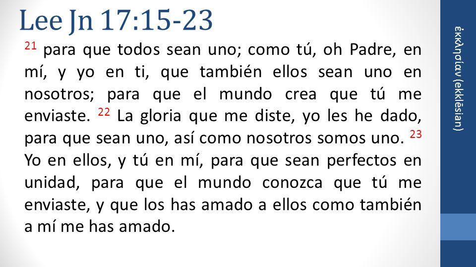 Lee Jn 17:15-23