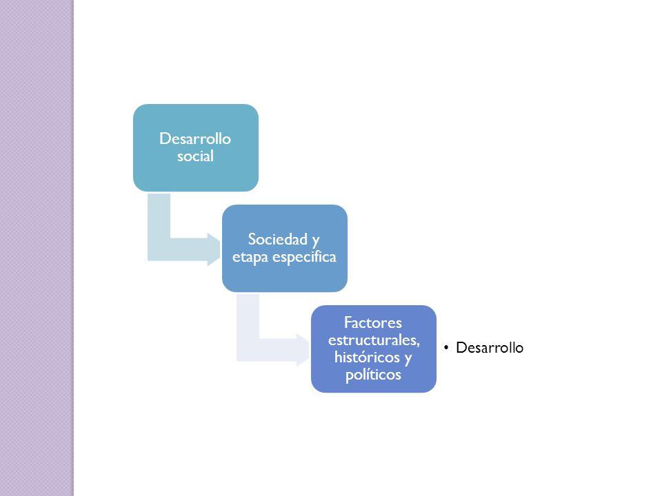 Sociedad y etapa especifica