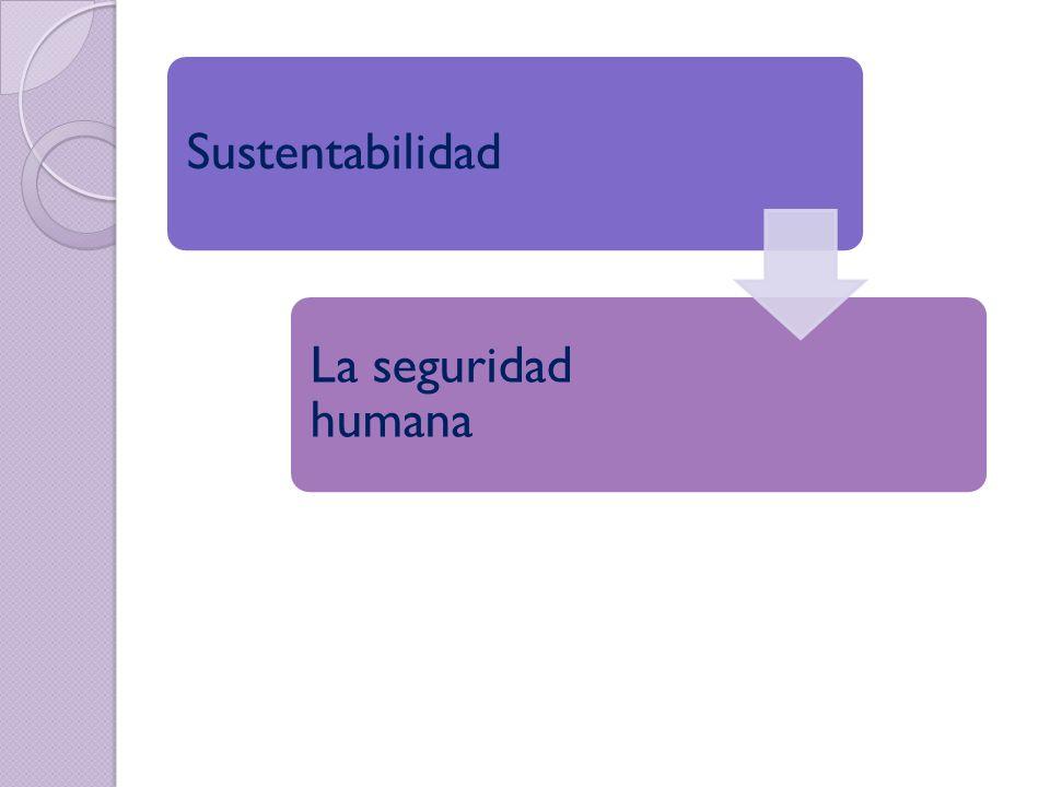 Sustentabilidad La seguridad humana