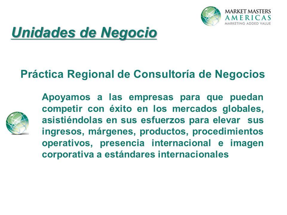 Unidades de Negocio Práctica Regional de Consultoría de Negocios