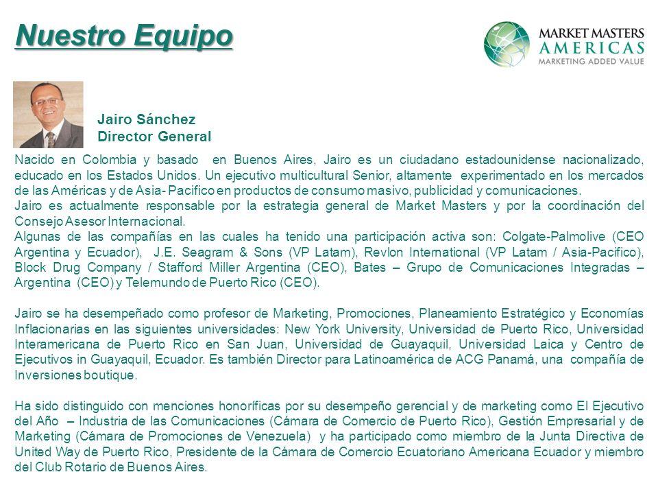 Nuestro Equipo Jairo Sánchez Director General