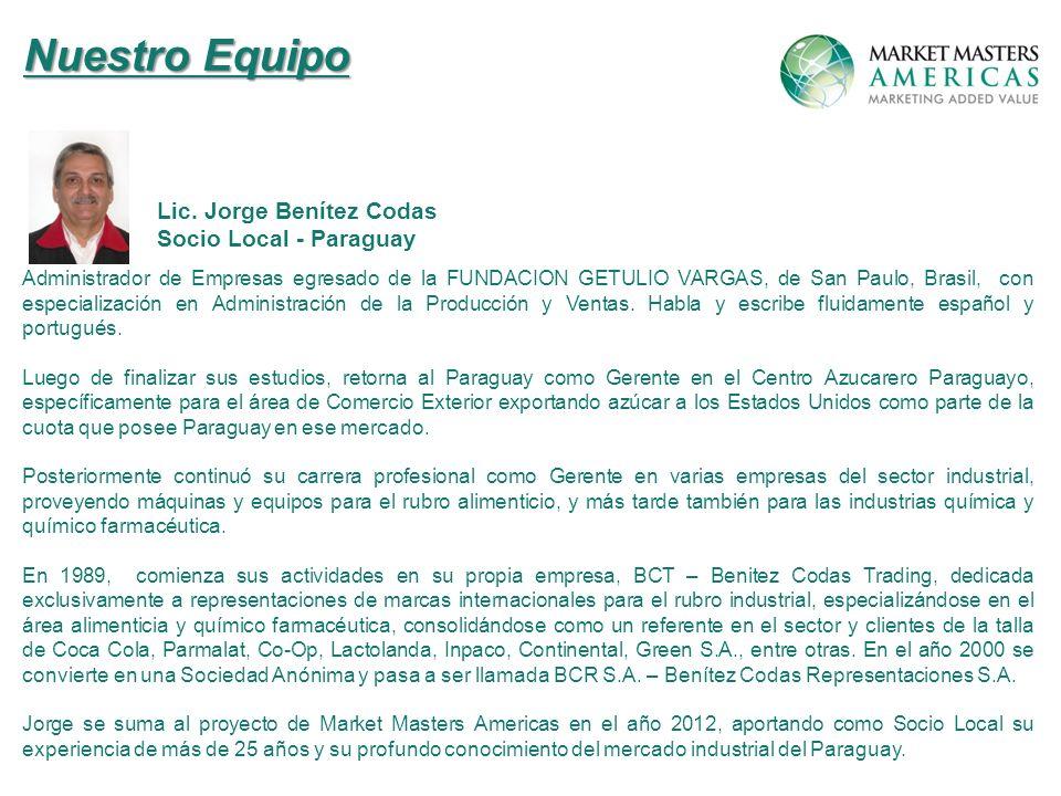Nuestro Equipo Lic. Jorge Benítez Codas Socio Local - Paraguay