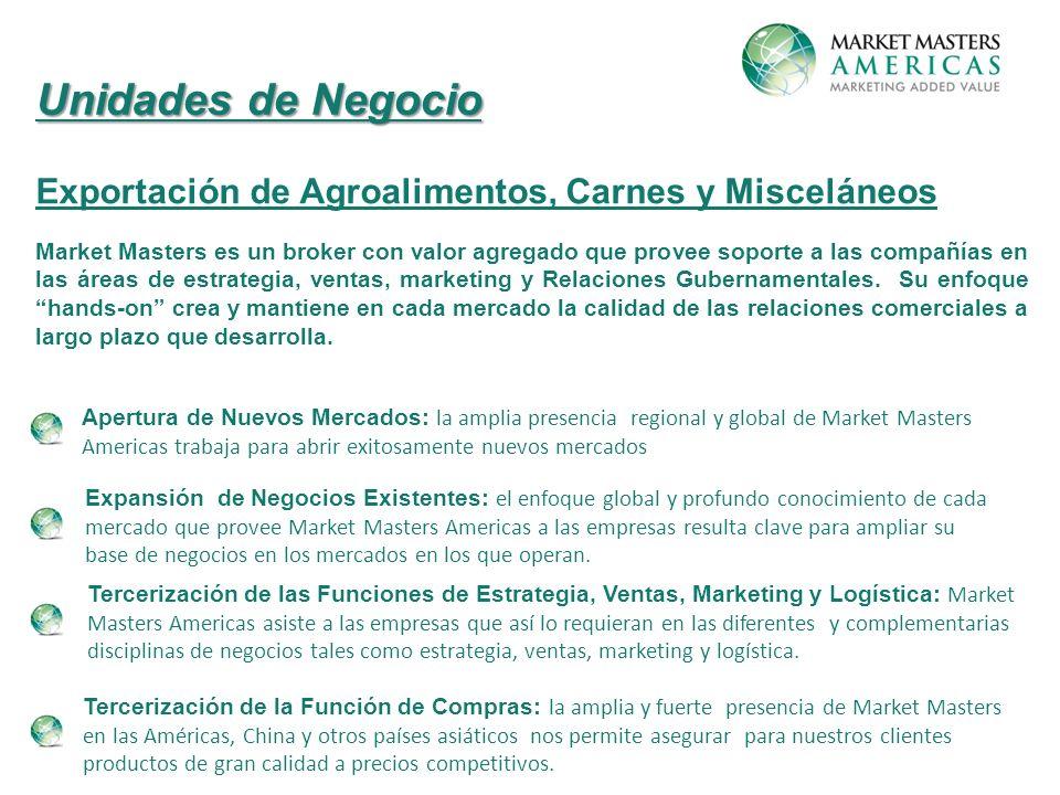 Unidades de Negocio Exportación de Agroalimentos, Carnes y Misceláneos