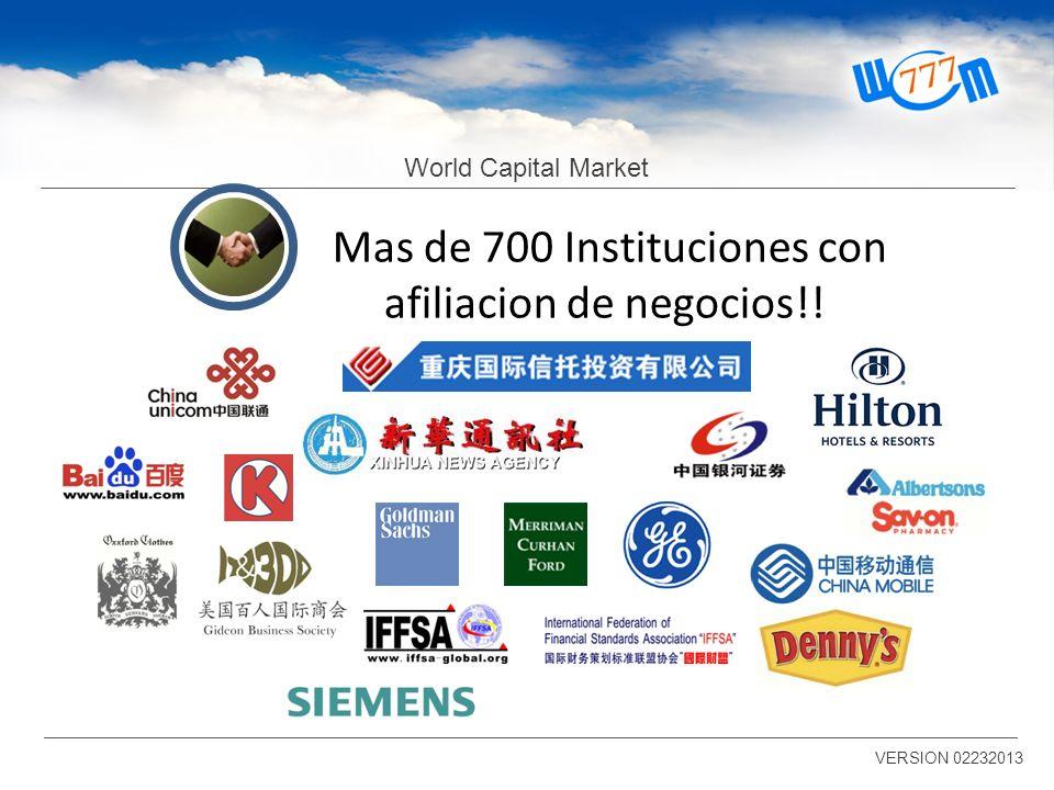 Mas de 700 Instituciones con afiliacion de negocios!!