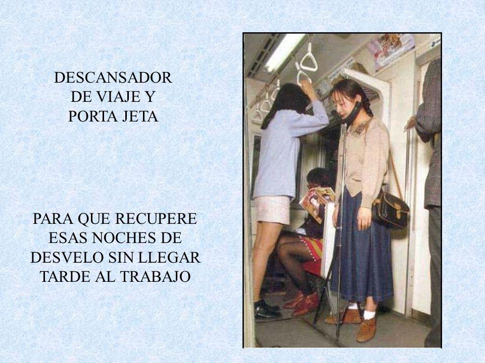 DESCANSADOR DE VIAJE Y PORTA JETA