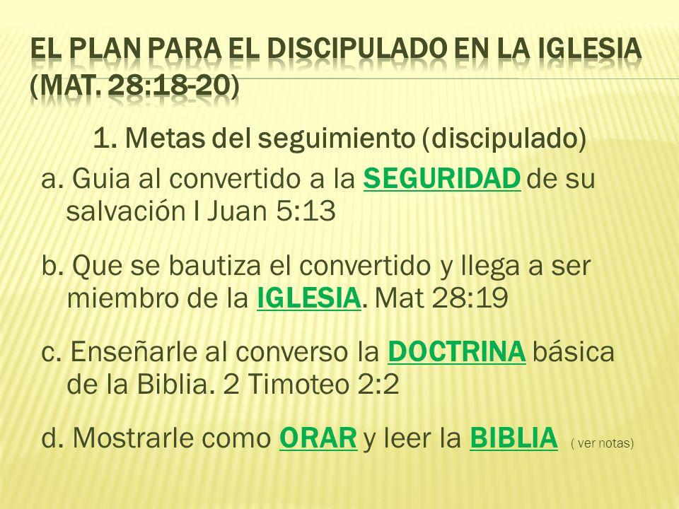El Plan para el Discipulado en la Iglesia (Mat. 28:18-20)