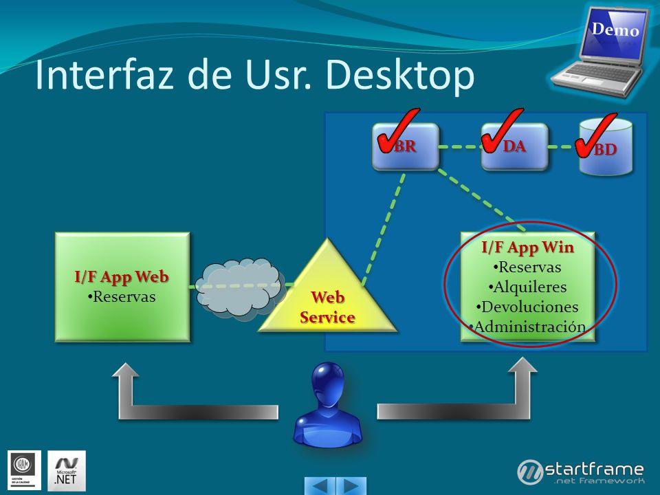 Interfaz de Usr. Desktop