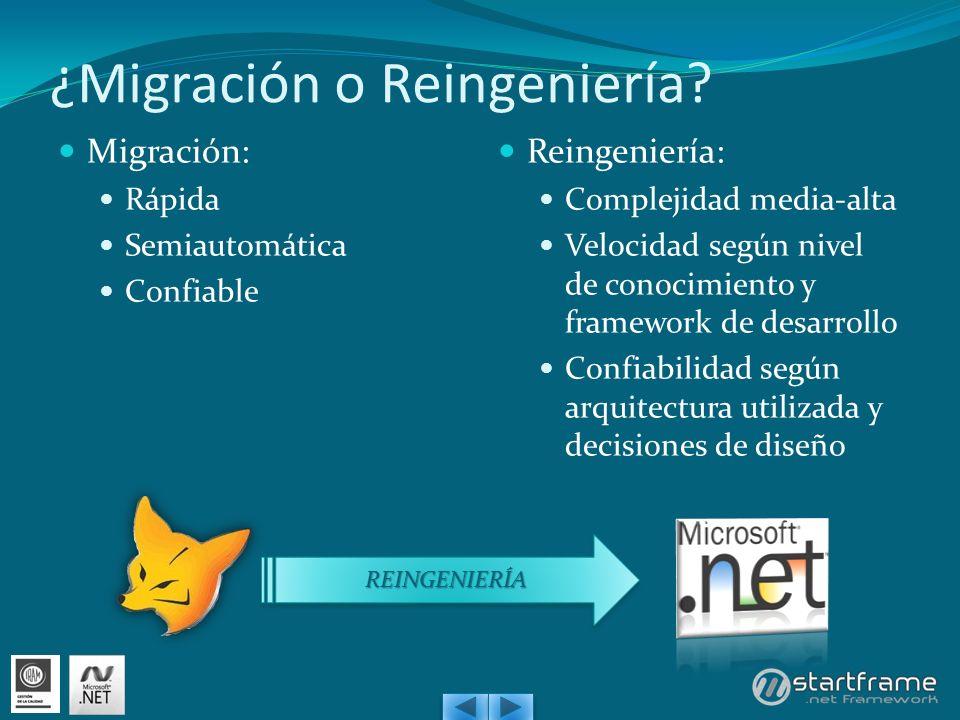¿Migración o Reingeniería