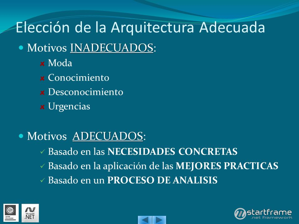 Elección de la Arquitectura Adecuada