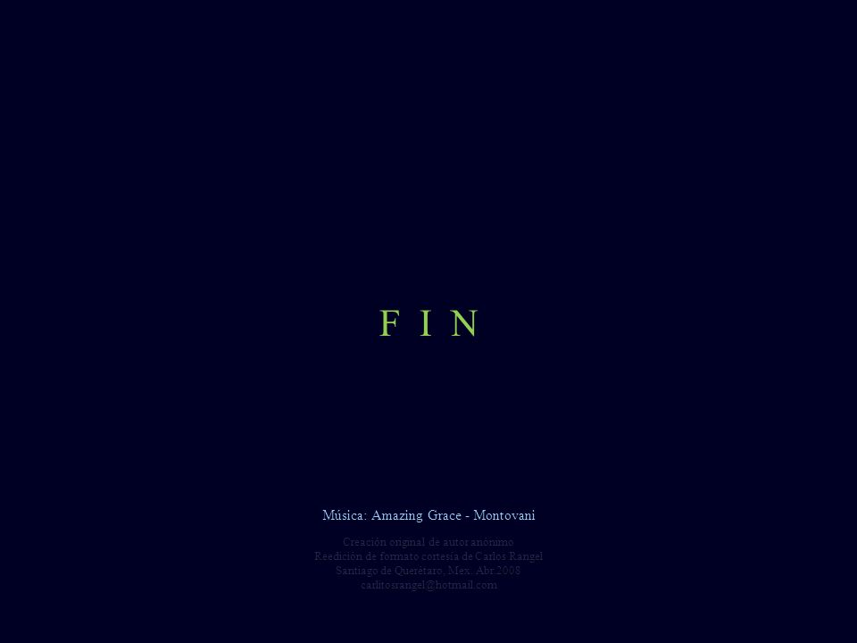 F I N Música: Amazing Grace - Montovani