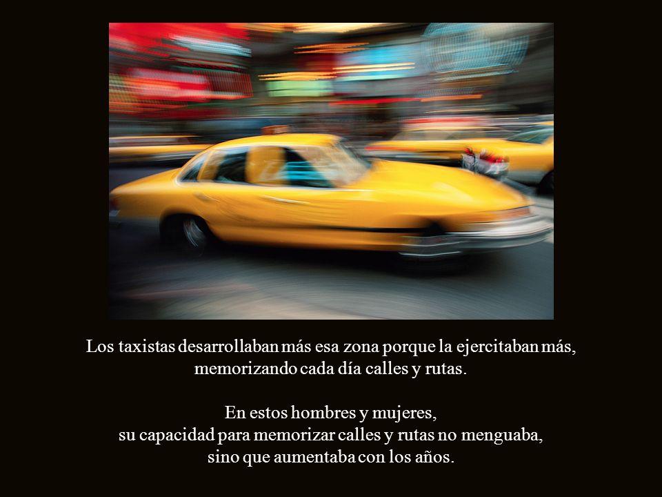 Los taxistas desarrollaban más esa zona porque la ejercitaban más,