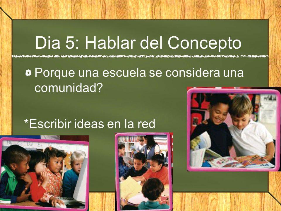 Dia 5: Hablar del Concepto